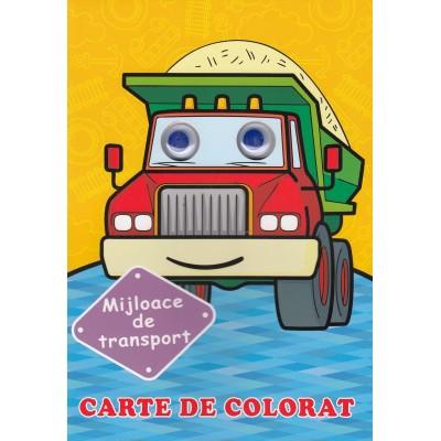 Mijloace de transport (cu ochisori) - Carte de colorat