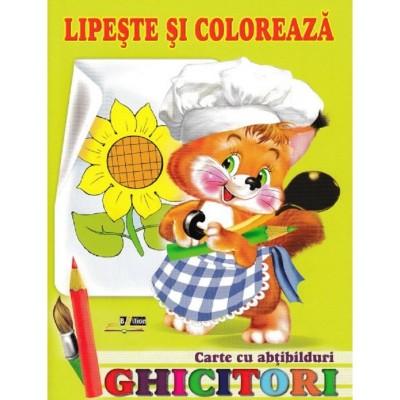 Ghicitori - Veverita - Lipeste si coloreaza