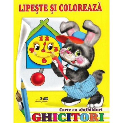 Ghicitori - Iepure - Lipeste si coloreaza