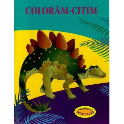Stegozaur – Dinozauri - Carte de colorat